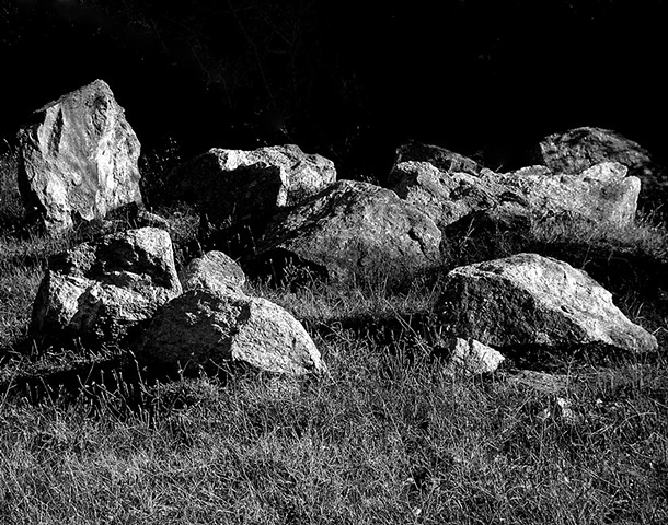 """""""The Gathering""""  Something about the way the rocks were laid in the field intrigued me. I wanted to capture the beauty of this abstract art by an unknown villager."""