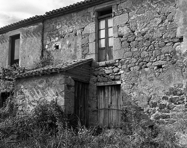 """""""Remains of a Charming House""""  An old house of rock construction in the village of Trasulfe, Spain."""