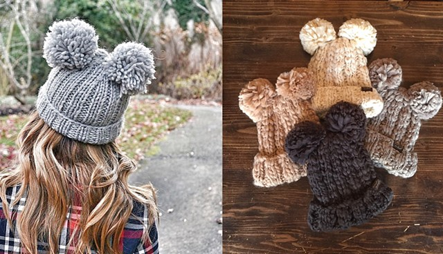 winter 2016 - double pom-pom toques