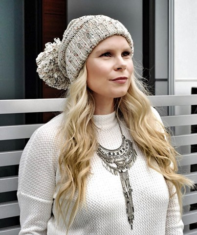 Winter '17 - slouchy toque and boho necklace