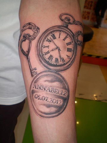 Tatto on Battle Royale Tattoos   Pocket Watch Tattoo