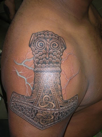 thors hammer tattoo
