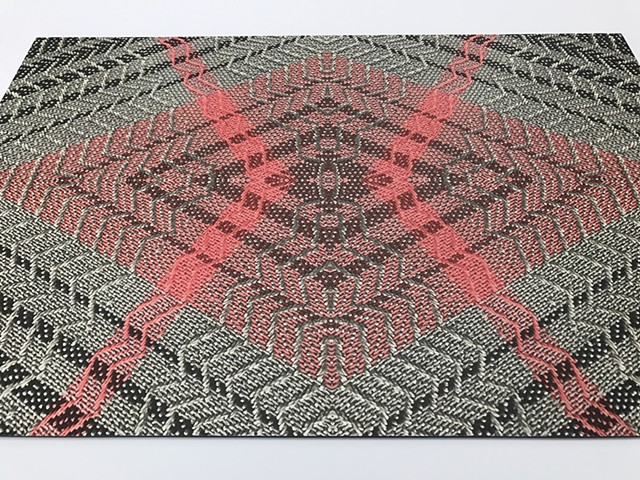 Digital print of original textile/weaving on aluminum