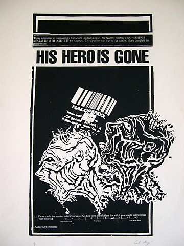 His Hero is Gone, Carl Auge Artwork, Fifteen Counts of Arson, Memphis, Punk, Hardcore, Todd Burdette