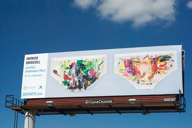 Untitled Underwear (Pair), Arts Council of Indianapolis Billboard Project, 2016-2017