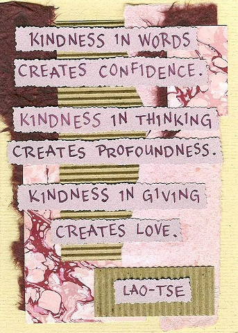 Loa-Tse - Kindness in Words