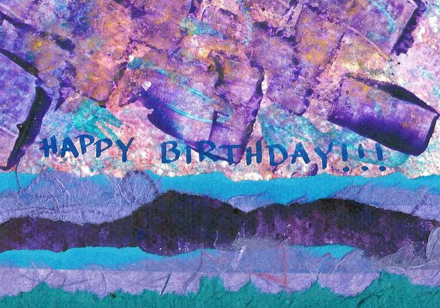 Happy Birthday - Pinks and Purples
