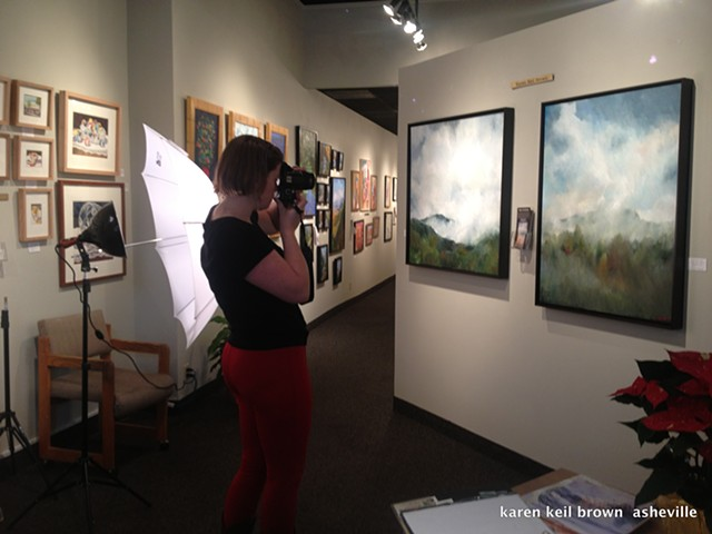 Ashley Brown photographing my art work
