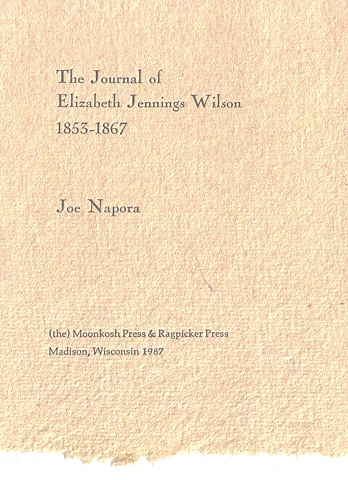 The Journal of Elizabeth Jennings Wilson