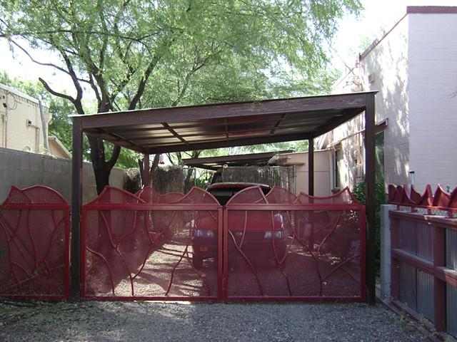 Johnny gate with carport