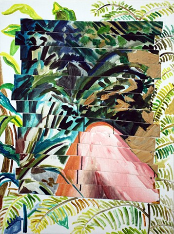figure in jungle, contemporary figure painting