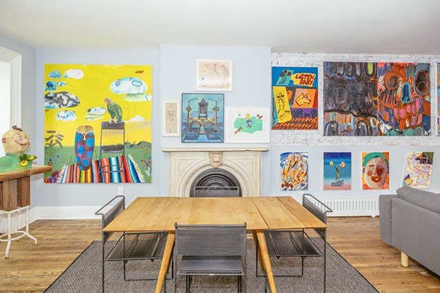 Plunge Into the Madcap Delirium of Chicago Imagists at a Brooklyn Brownstone With These Photos