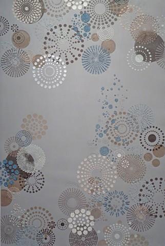Grey Multi Dots