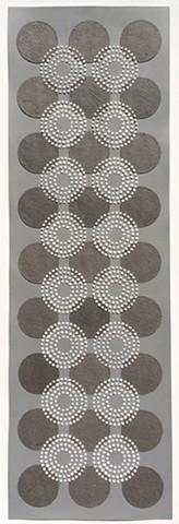 Black/White Dots Grey Background 9x3row