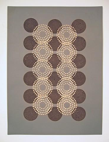Untitled (tan circles/black dots)