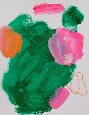 Abstract Study Green/Pink III