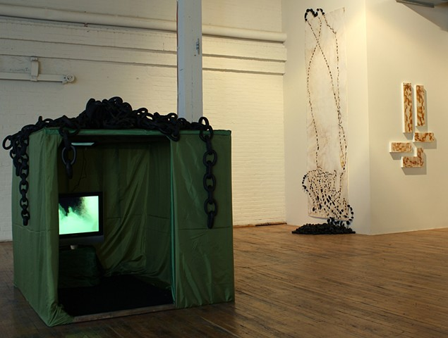 Point of Entry - Installation view @ Coleman Burke Gallery, Brunswick, Maine