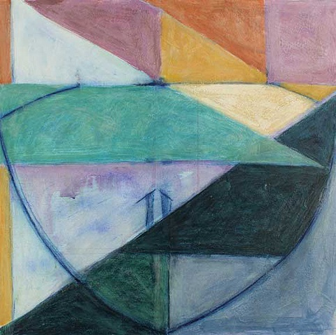 Sea Geometry No. 107, Contemporary Art/ Painting / Encaustic