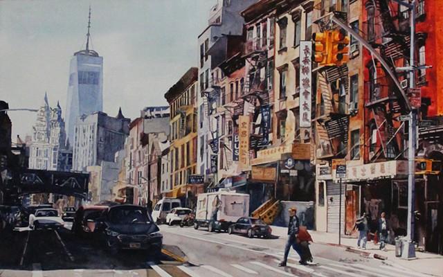 Morning Sun on East Broadway