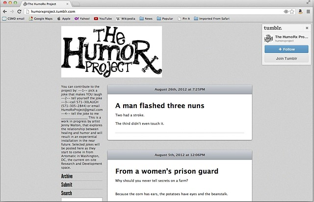 HumoRx Project tumblr detail
