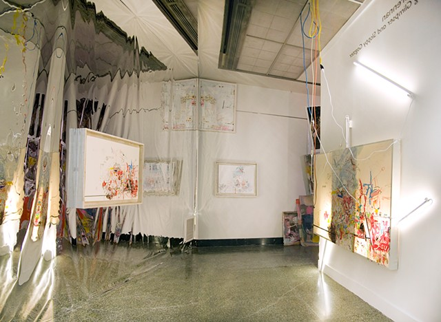 Slipping Glimpser and Sloppy Gagster Installation View On Right: Doppelganger