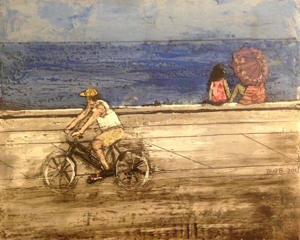 Biking on the Malecon