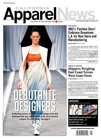 Cover feature in California Apparel News