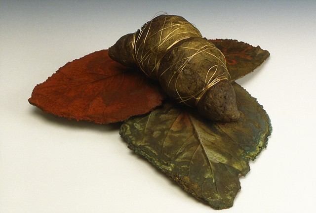 Spun Pupa with Leaves
