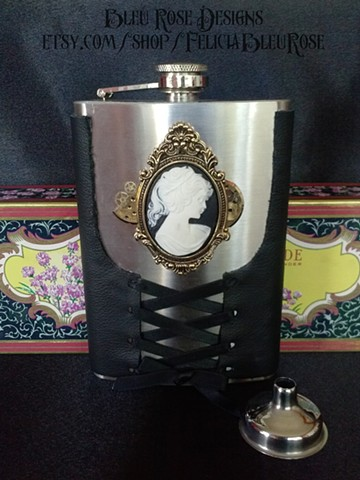 Gothic Cameo Flask