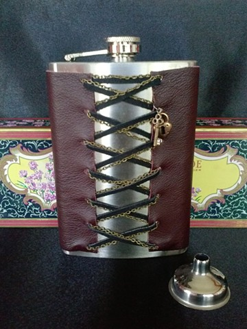 Corset with Chains Flask