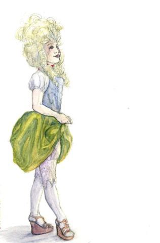 Woman in Rococo Wig