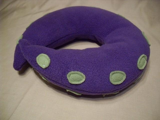 japanese tentalce octopus fleece travel neck pillow