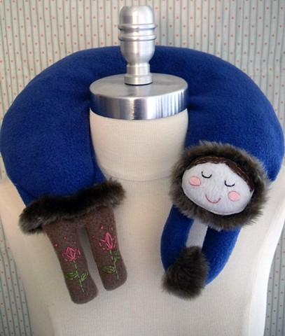 Katerinka the kawaii russian girl fleece travel neck pillow