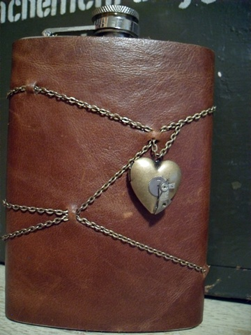 Chain and Locket Flask