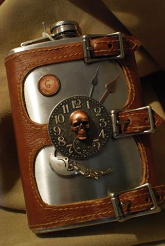 SkullHead Flask Set 2