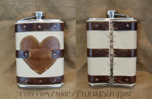 Love of Mine Valentine Flask
