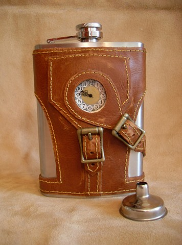 Flask with Working Clock