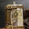 Flask with Clock Hand and Keyhole