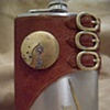 Large Locket and Buckle Flask