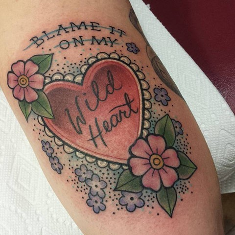 Carrie black tattoo for Wild at heart tattoo