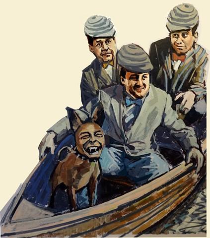 Three Men In a Boat Pulp The Classics cover art