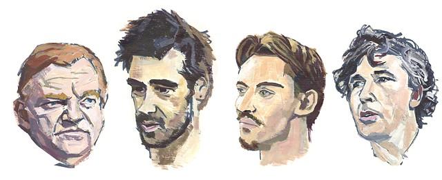 Portraits of four Irish actors