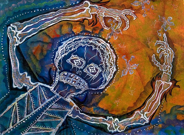 Day of the Dead. skeletons. October. by Dorothy Graden
