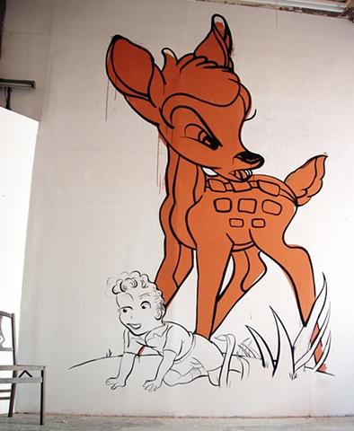 Demonic Nature-Wall Drawing/Installation shot