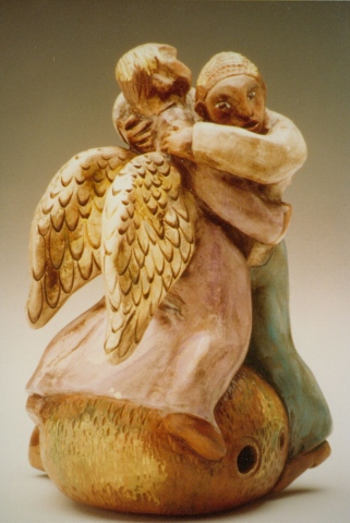 Jacob Wrestles With the Angel,   Whistle by Delia Robinson