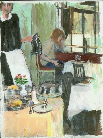 Feral Boy in Hotel Restaurant