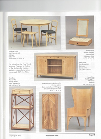 "Vice Cabinet Featured in August issue of ""Woodworker West"" Magazine"