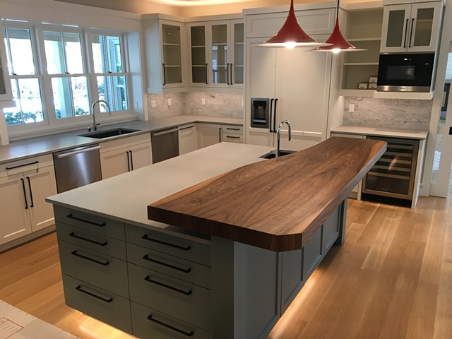 French Walnut Counter