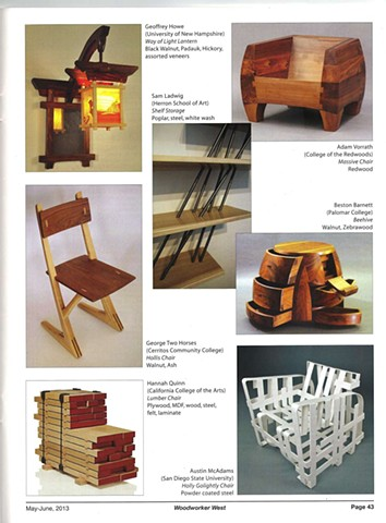 "My chair, ""Don Draper"" was featured in Woodworker West magazine"