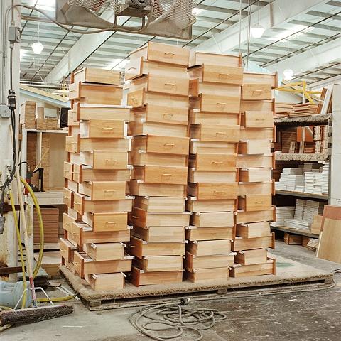 Fleetwood Homes assembly line, Woodland WA © Amy Eckert www.amyeckertphoto.com